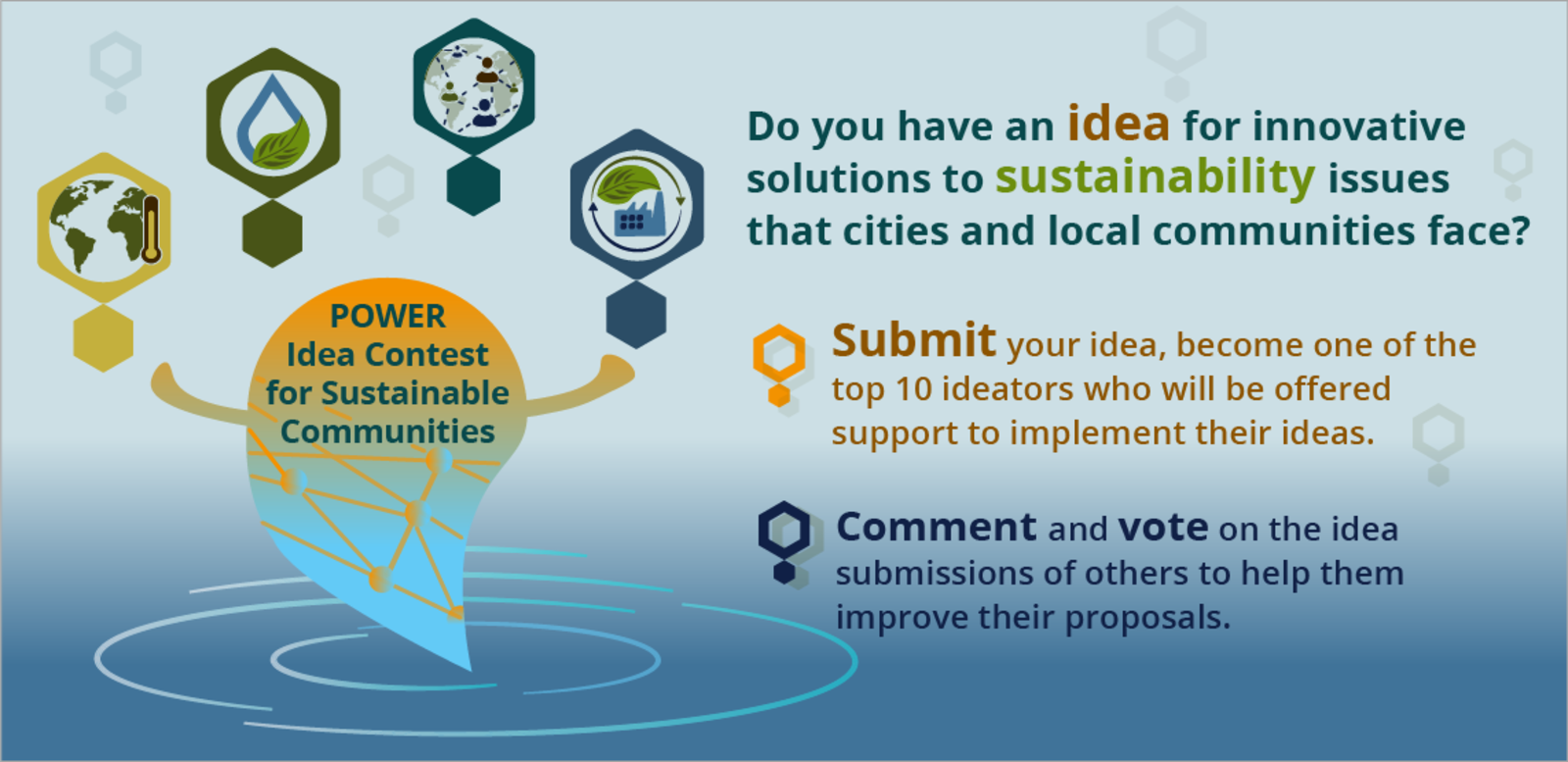 Learn about the POWER Idea Contest for Sustainable Communities