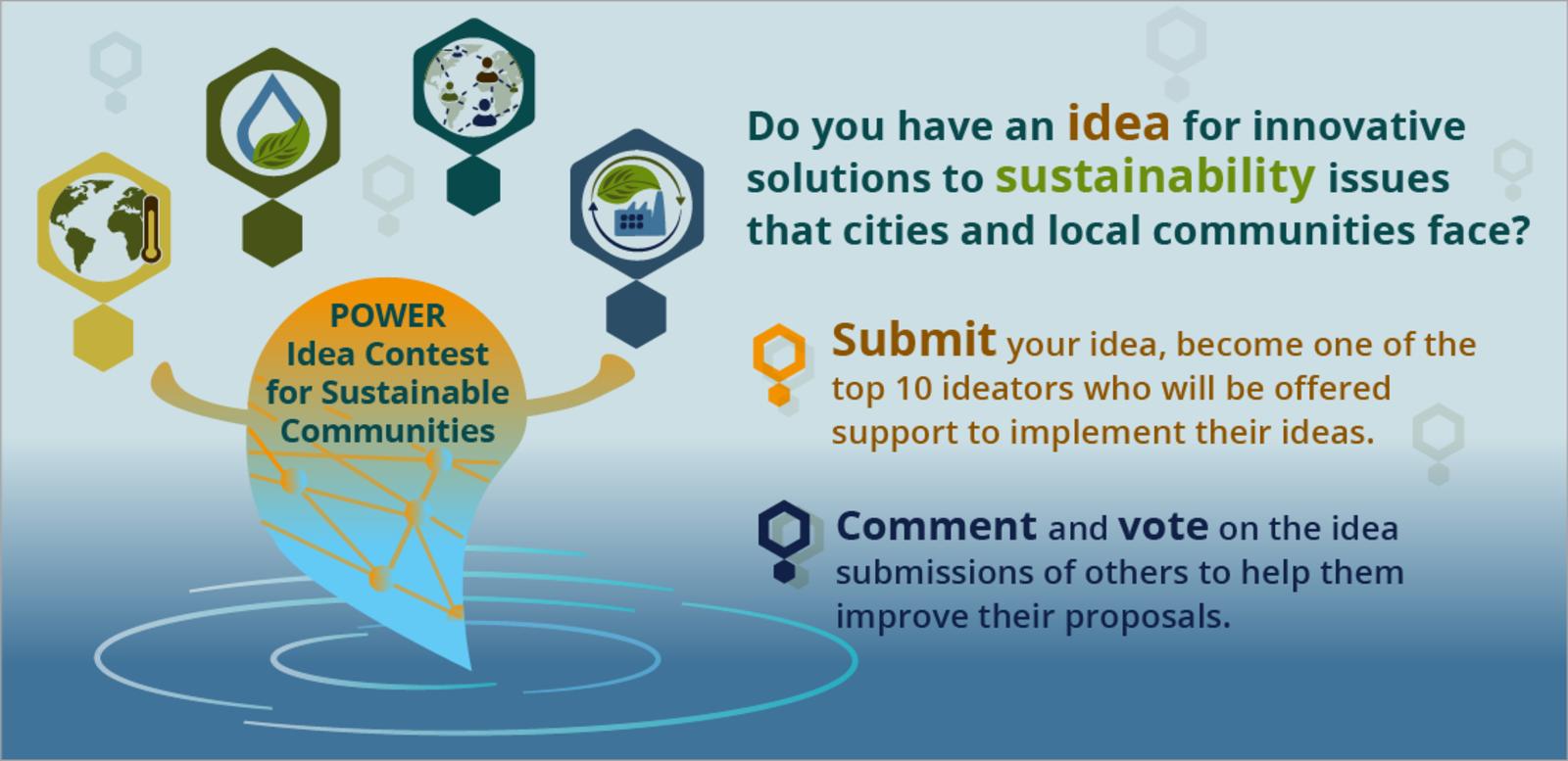 Presenta i vota idees en el Concurs d'Idees POWER per a Comunitats Sostenibles