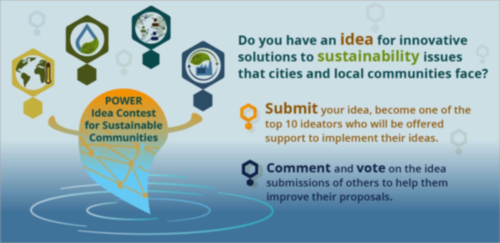 Presenta y vota ideas en el Concurso de Ideas POWER para Comunidades Sostenibles.